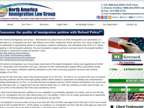 North America Immigration Law www wegreened com